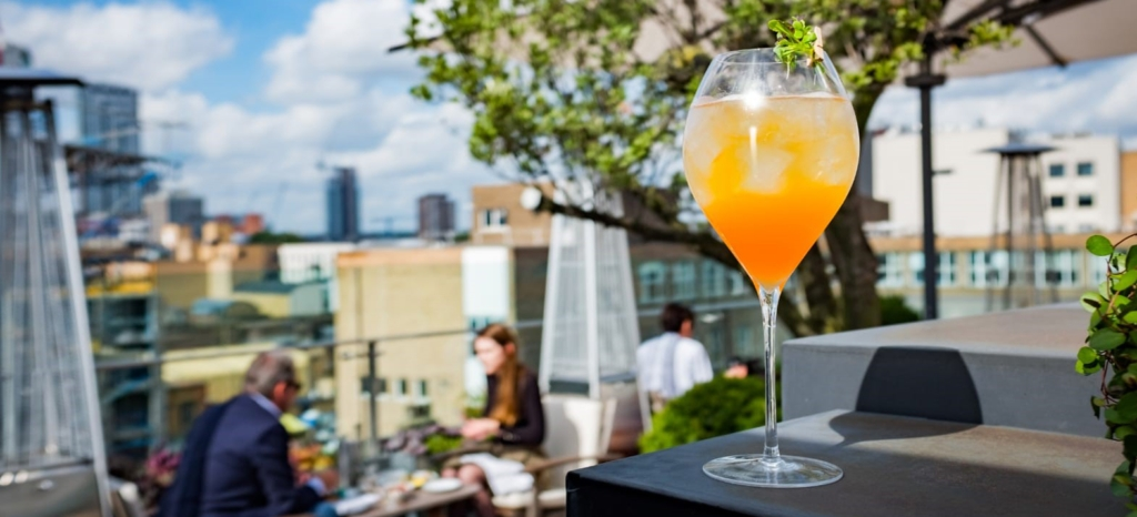 boundary rooftop bar drink