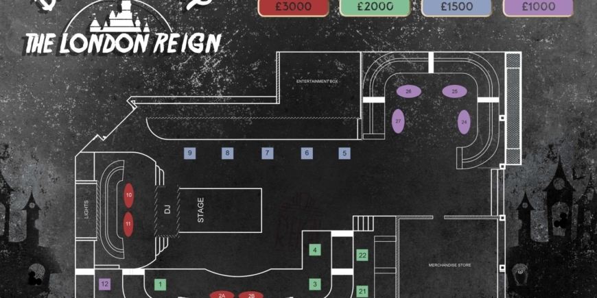 halloween reign table booking